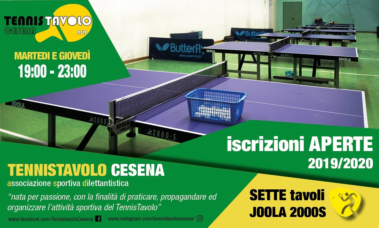 tennistavolo Cesena iscrizioni aperte